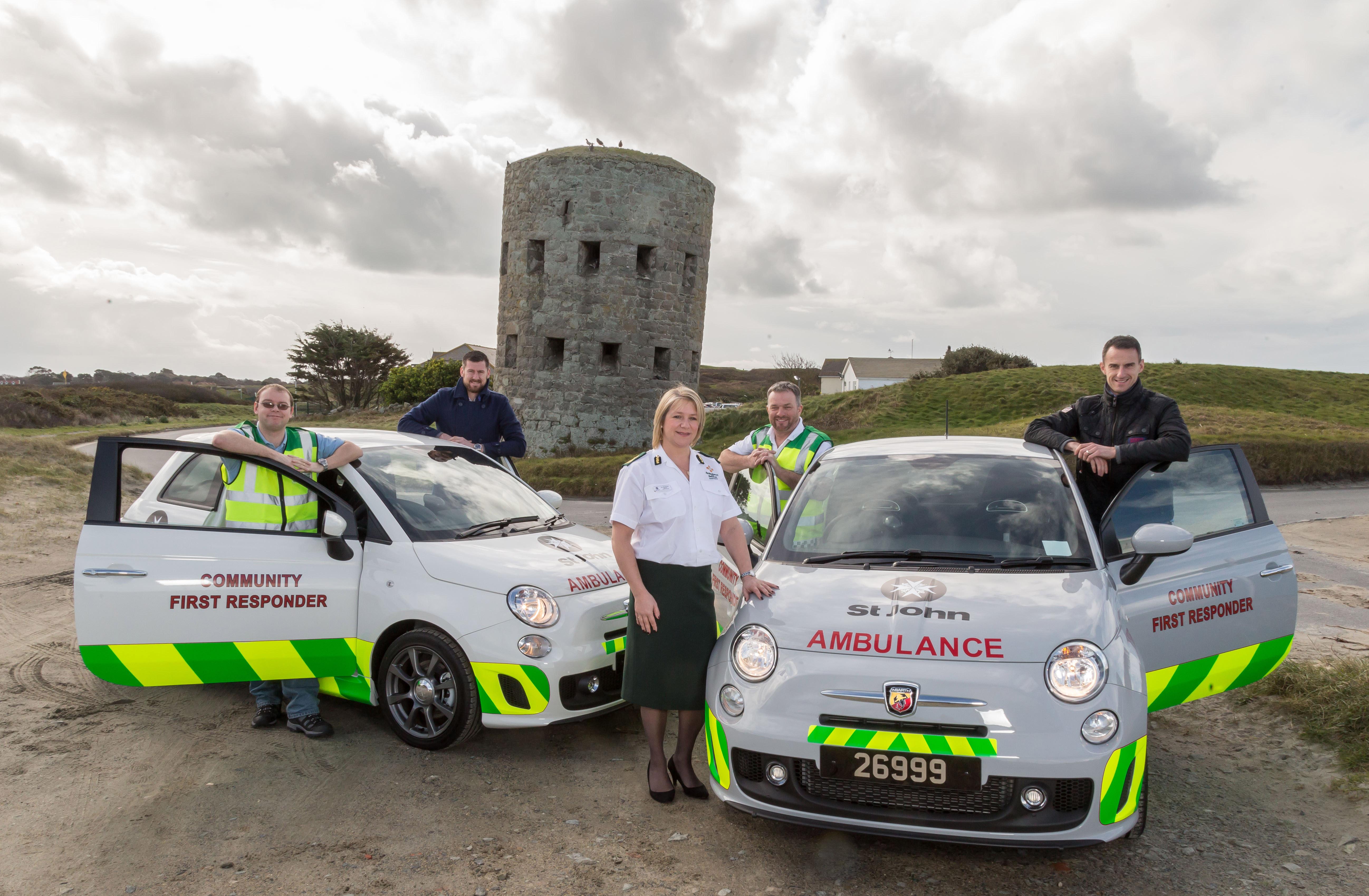 Le Mont Saint Garage - St John Ambulance - Community First Responder vehicles.