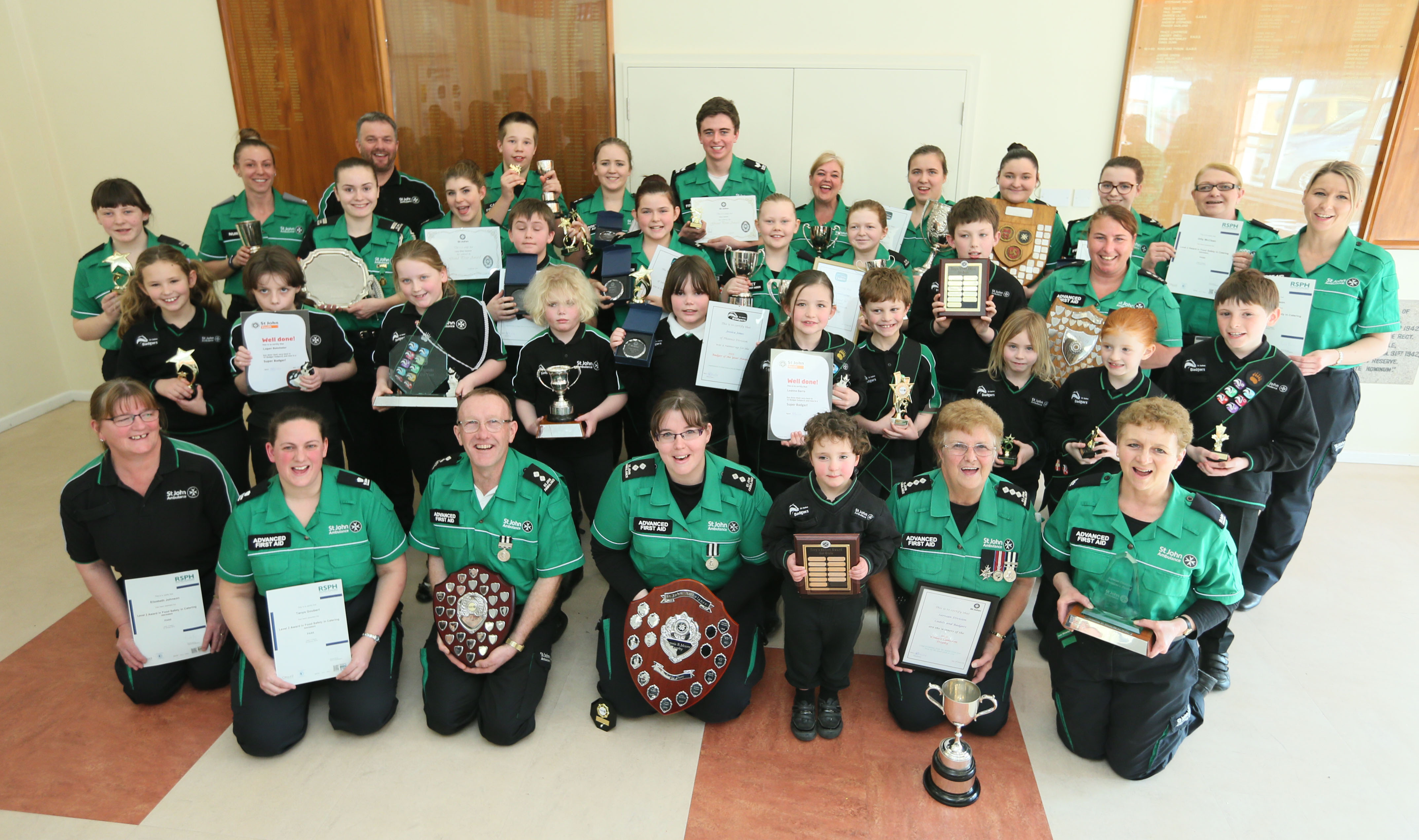 Pic by Adrian Miller 13-03-16 Ambulance Station Rohais St Peter Port St John awards presentations
